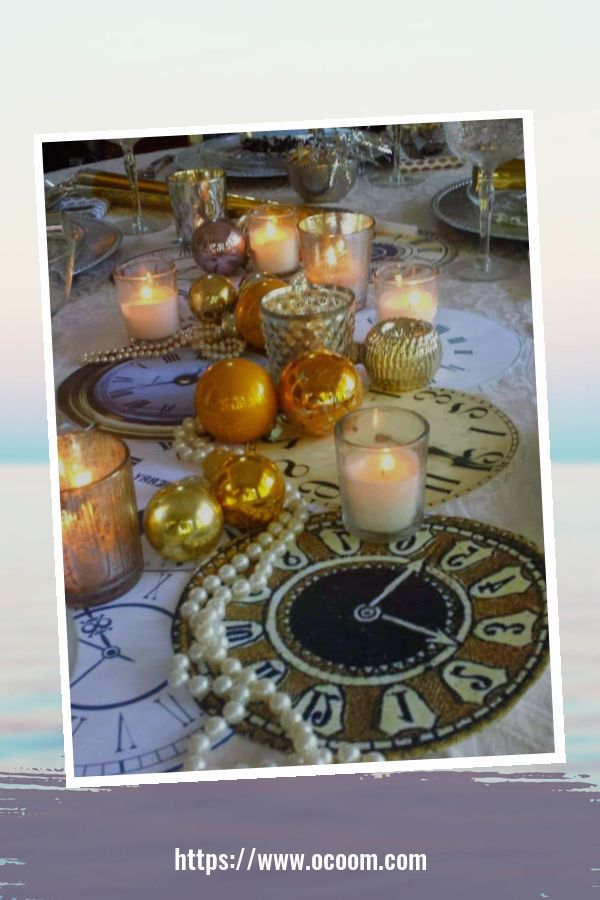 20+ Sparkling New Year's Eve Party Table Decoration Ideas 15