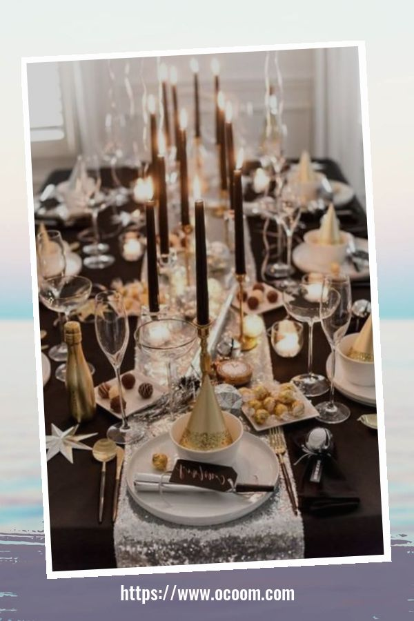 20+ Sparkling New Year's Eve Party Table Decoration Ideas 5