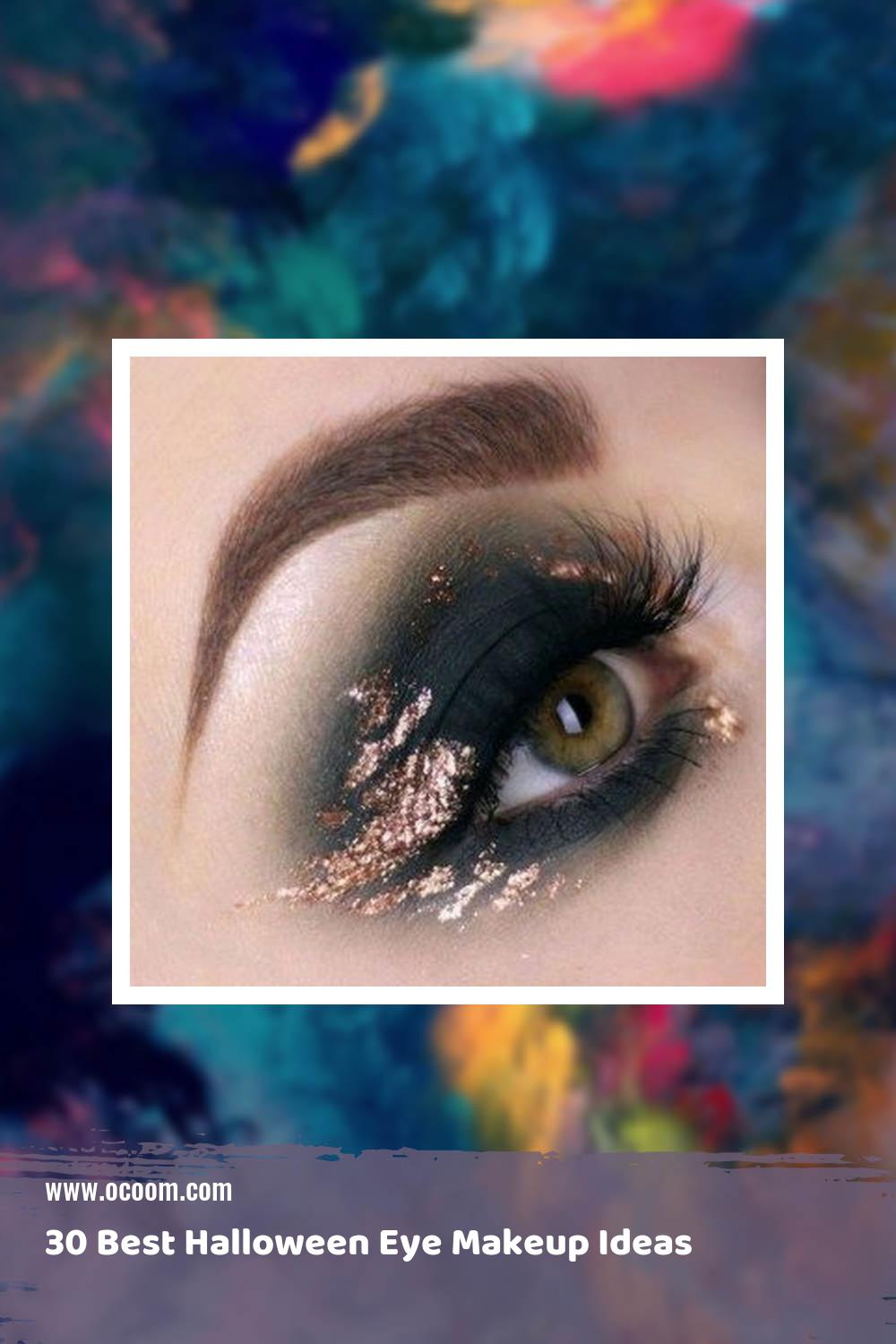 30 Best Halloween Eye Makeup Ideas 36