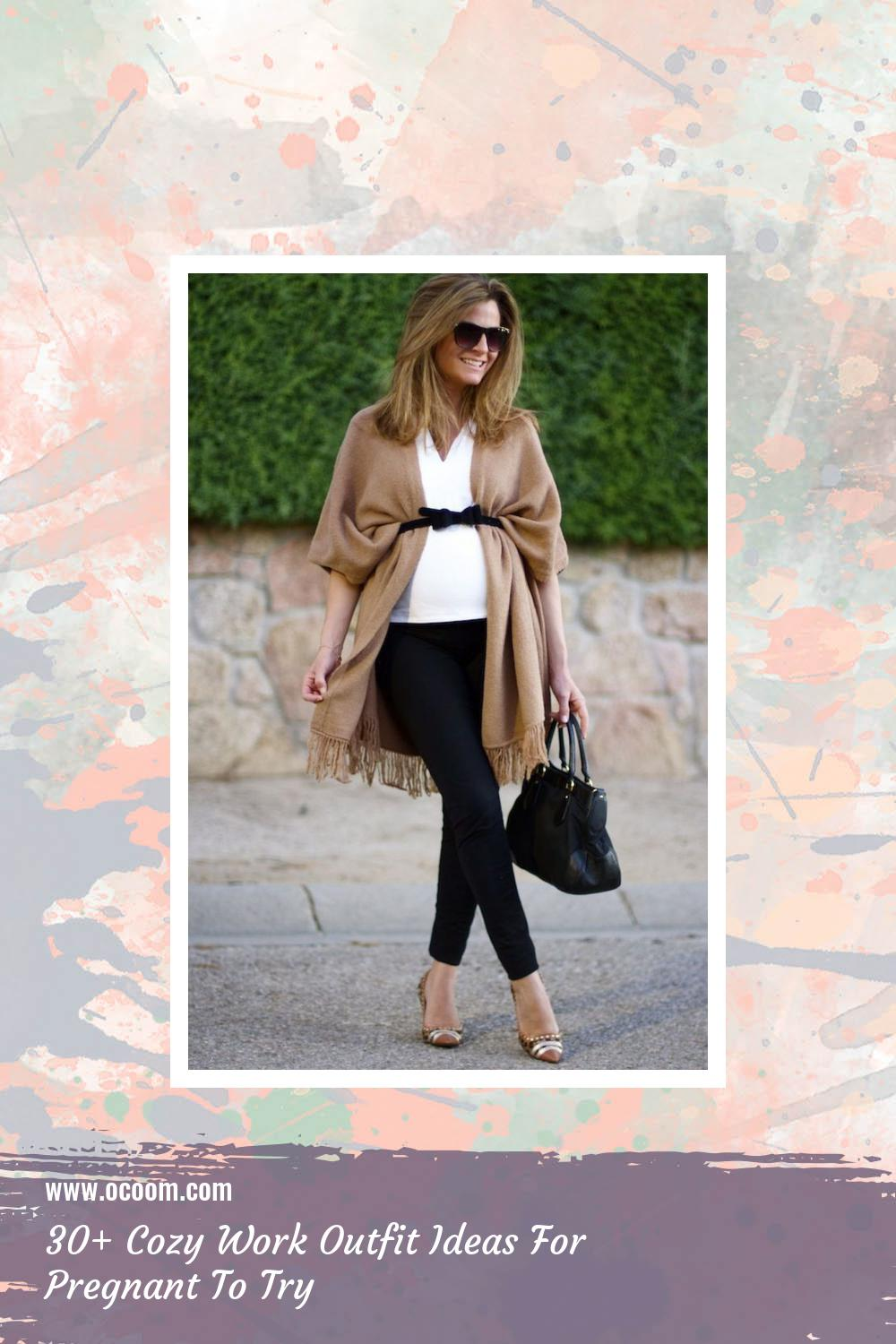 30+ Cozy Work Outfit Ideas For Pregnant To Try 11
