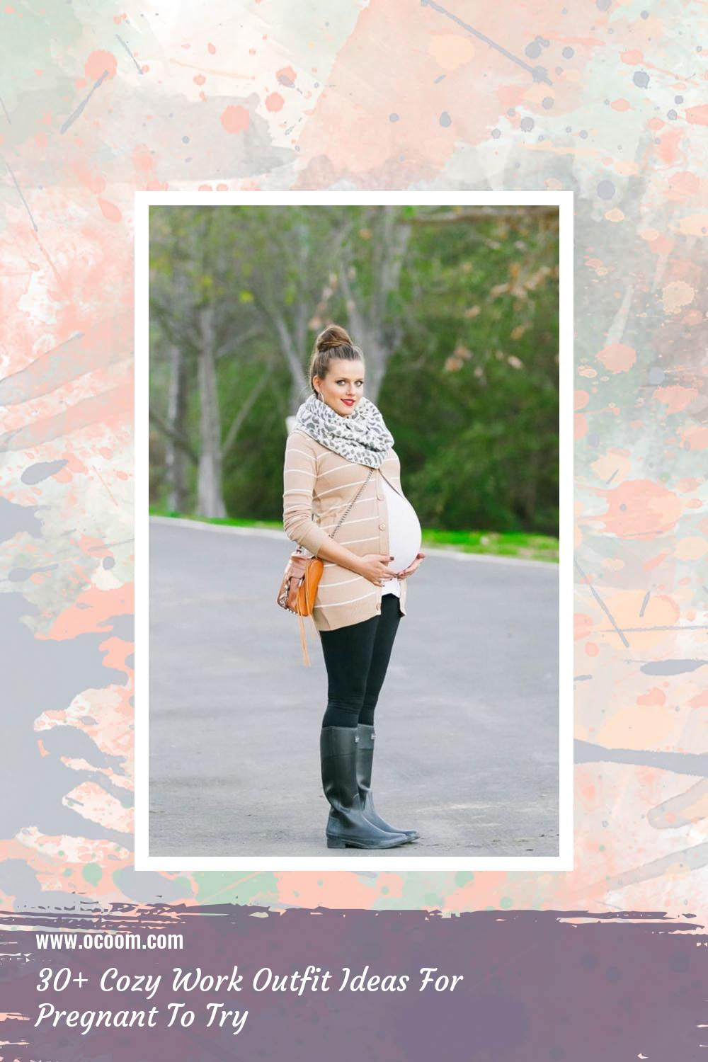 30+ Cozy Work Outfit Ideas For Pregnant To Try 23