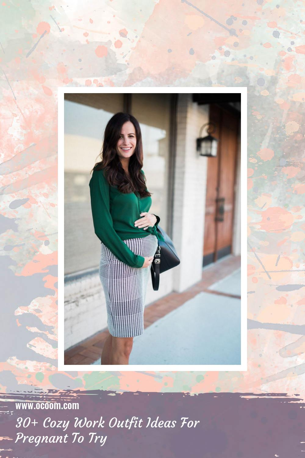 30+ Cozy Work Outfit Ideas For Pregnant To Try 8