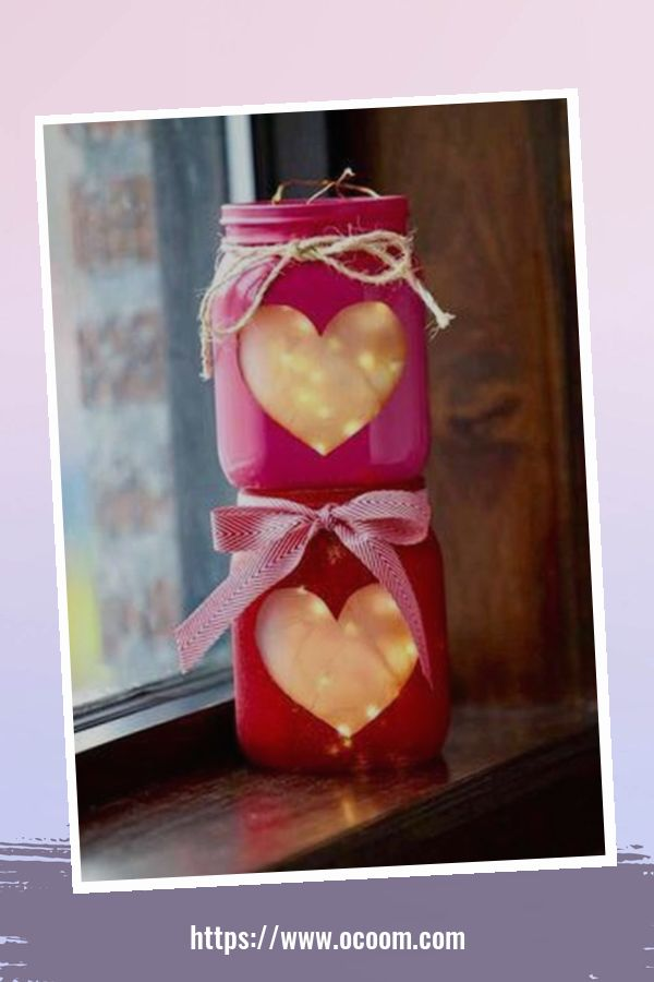 30+ Cute Valentines Day Mason Jars Decoration Ideas 1