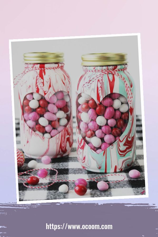 30+ Cute Valentines Day Mason Jars Decoration Ideas 28