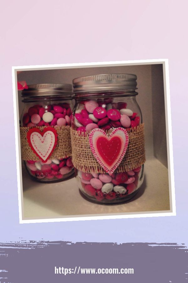 30+ Cute Valentines Day Mason Jars Decoration Ideas 3