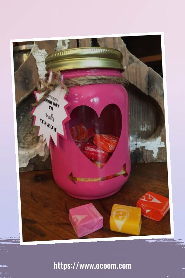 30+ Cute Valentines Day Mason Jars Decoration Ideas 51