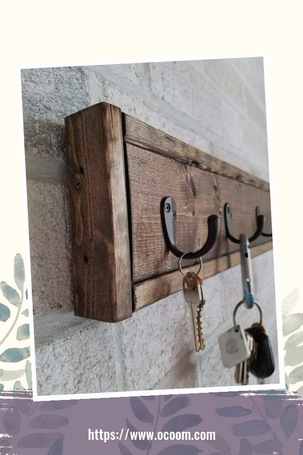 30+ Easy And Simple Key Organizer Ideas You Can Make From Wood 2