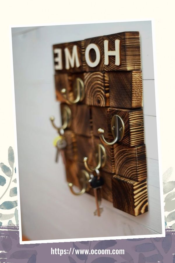 30+ Easy And Simple Key Organizer Ideas You Can Make From Wood 38
