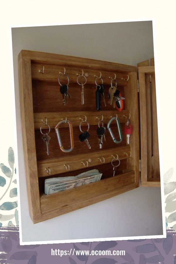 30+ Easy And Simple Key Organizer Ideas You Can Make From Wood 4