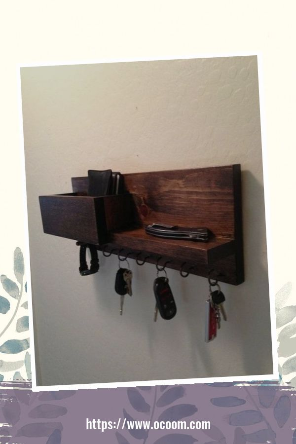 30+ Easy And Simple Key Organizer Ideas You Can Make From Wood 9