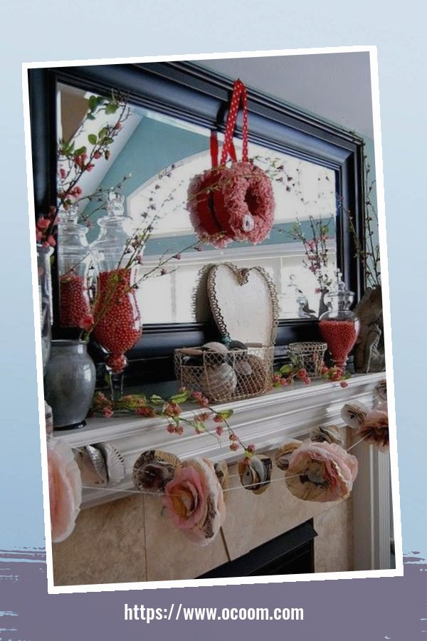 30+ Elegant Valentines Day Mantel Inspiration Ideas 1
