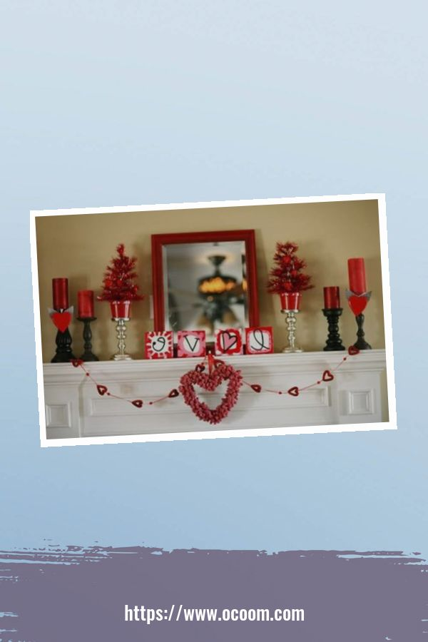 30+ Elegant Valentines Day Mantel Inspiration Ideas 25
