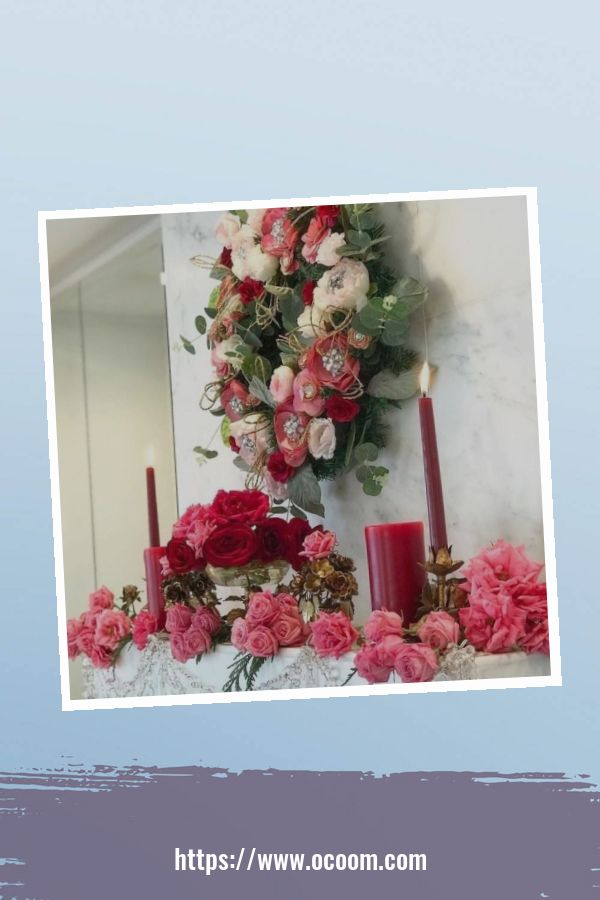 30+ Elegant Valentines Day Mantel Inspiration Ideas 27