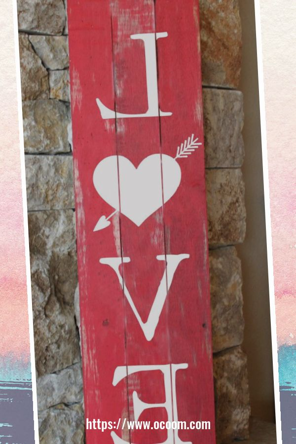30+ Simple Wooden Signs For Valentines Day 10