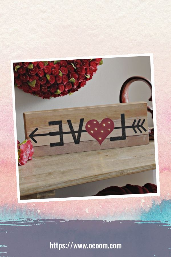 30+ Simple Wooden Signs For Valentines Day 18