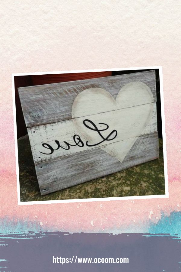 30+ Simple Wooden Signs For Valentines Day 25
