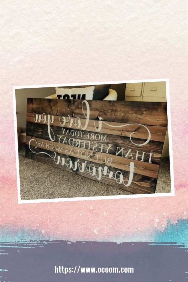 30+ Simple Wooden Signs For Valentines Day 30