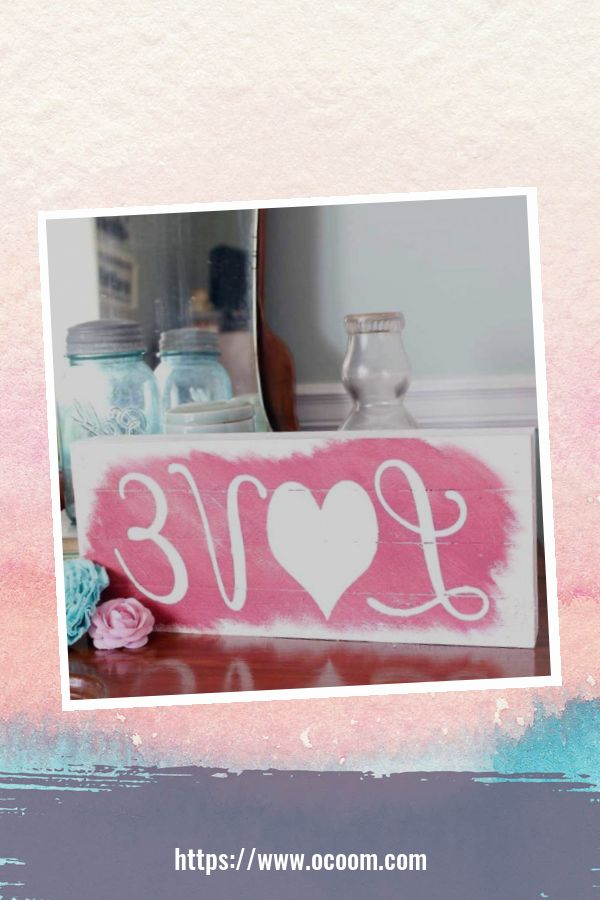 30+ Simple Wooden Signs For Valentines Day 31