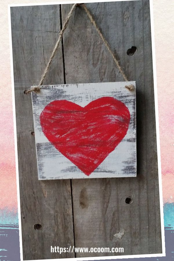 30+ Simple Wooden Signs For Valentines Day 32
