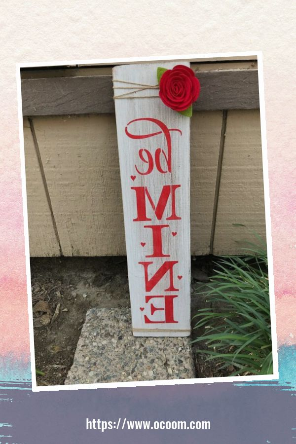 30+ Simple Wooden Signs For Valentines Day 40
