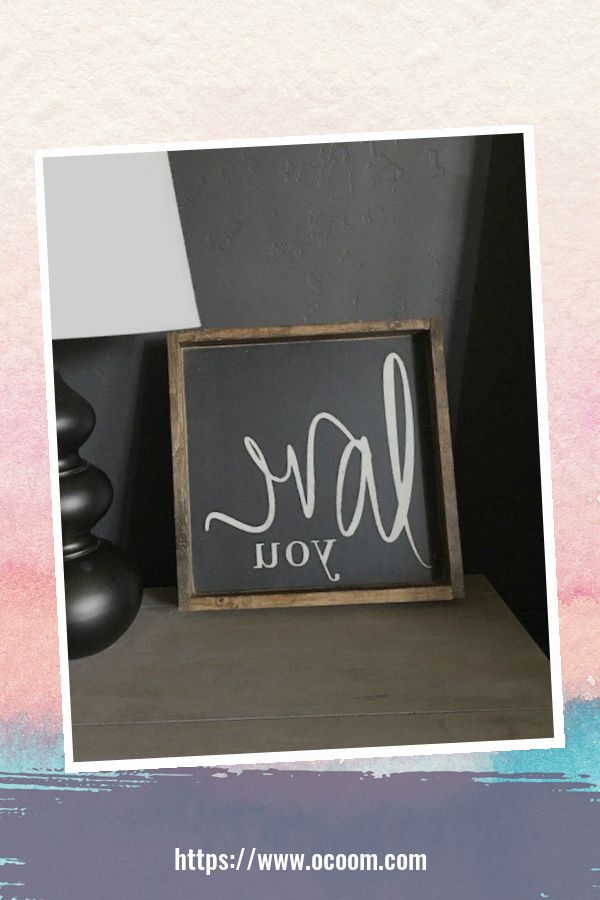 30+ Simple Wooden Signs For Valentines Day 41