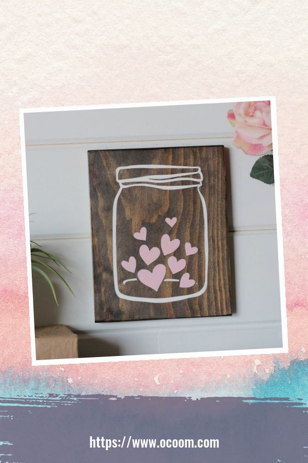 30+ Simple Wooden Signs For Valentines Day 46