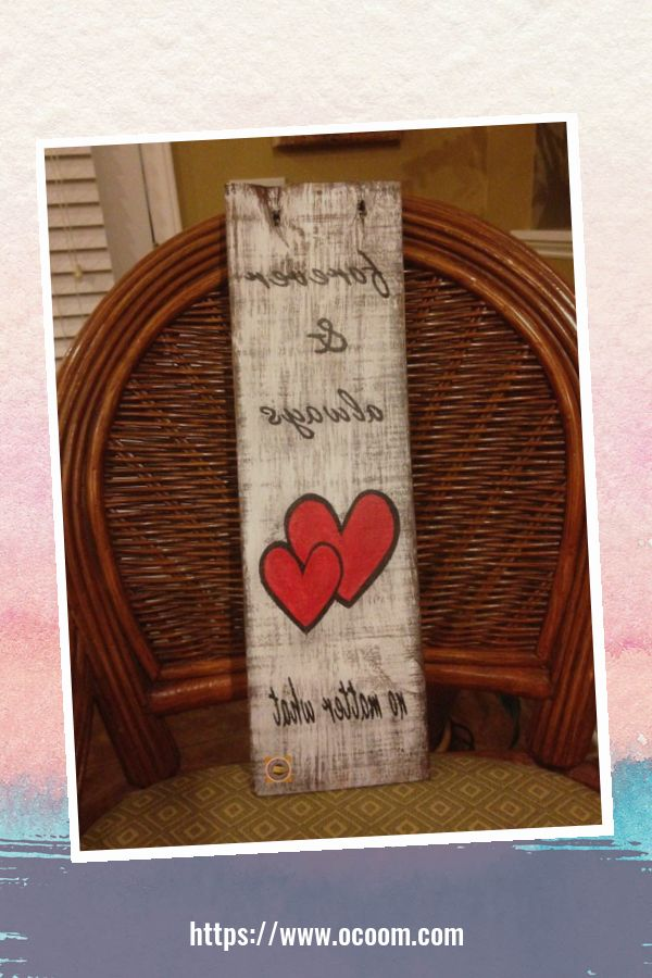 30+ Simple Wooden Signs For Valentines Day 48