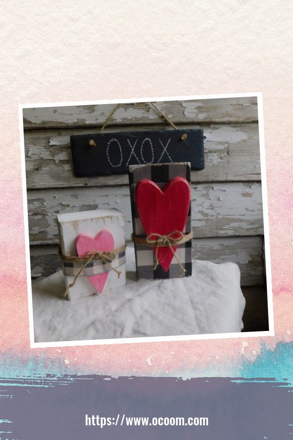 30+ Simple Wooden Signs For Valentines Day 6