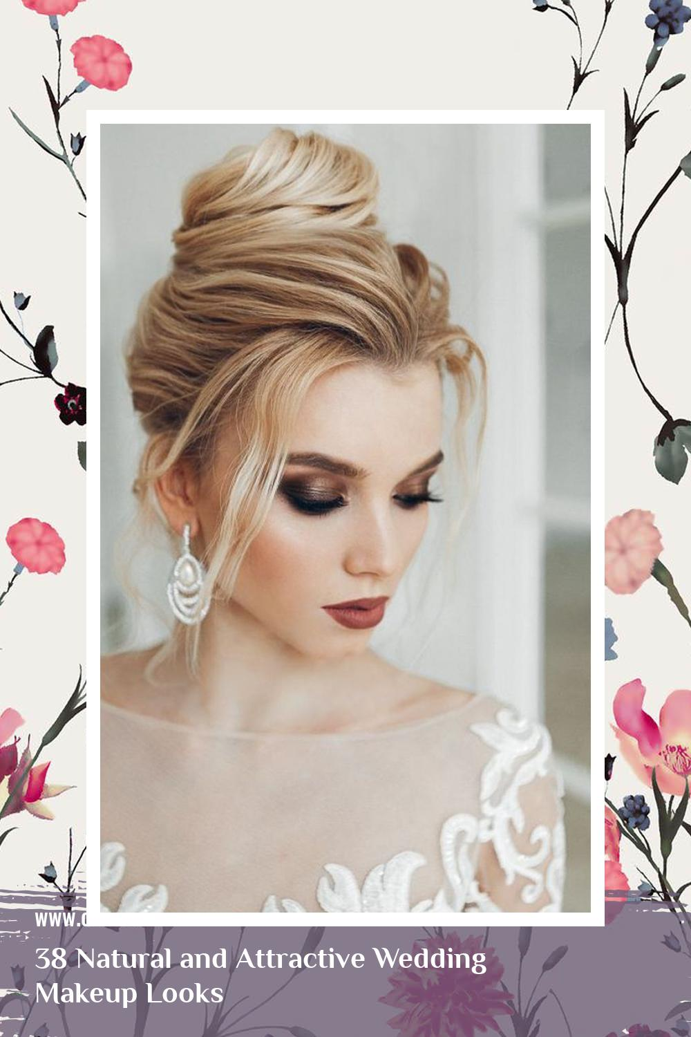 38 Natural and Attractive Wedding Makeup Looks 12