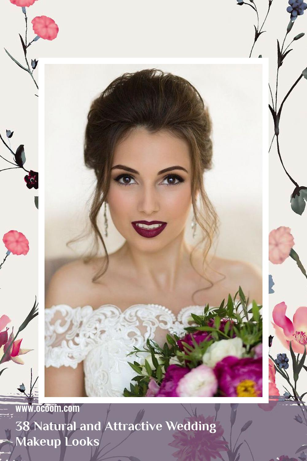 38 Natural and Attractive Wedding Makeup Looks 14