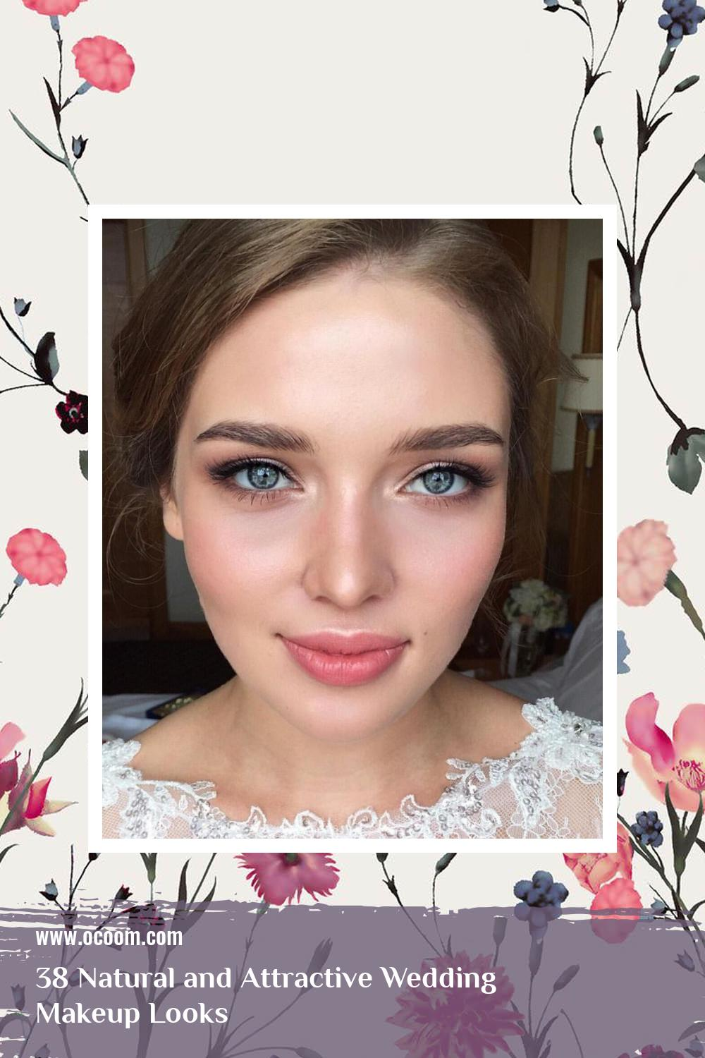 38 Natural and Attractive Wedding Makeup Looks 16