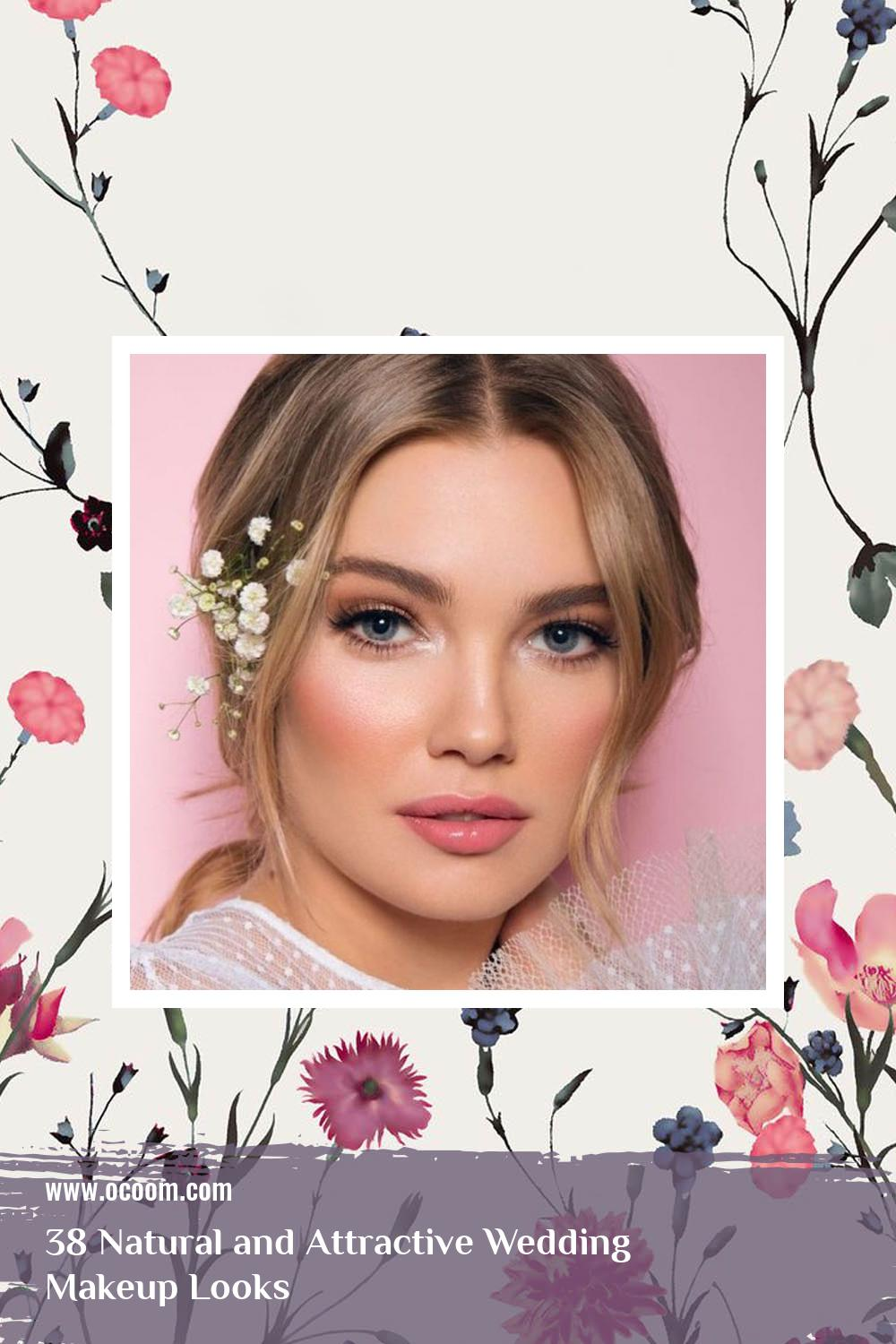 38 Natural and Attractive Wedding Makeup Looks 17