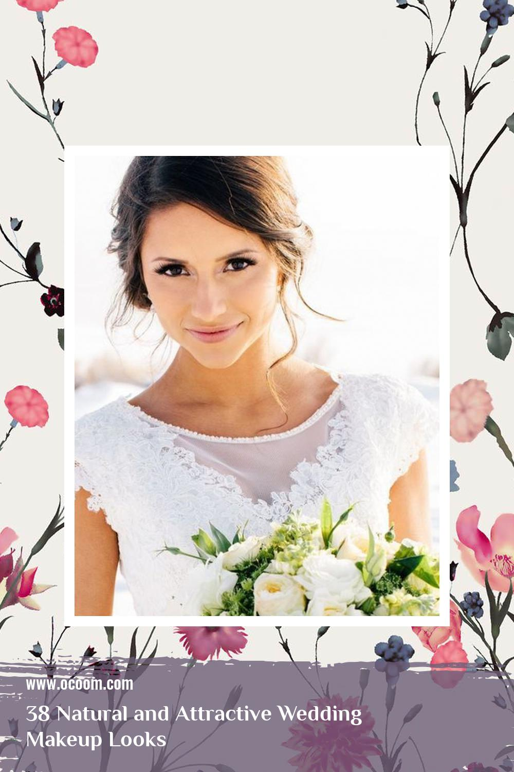 38 Natural and Attractive Wedding Makeup Looks 19