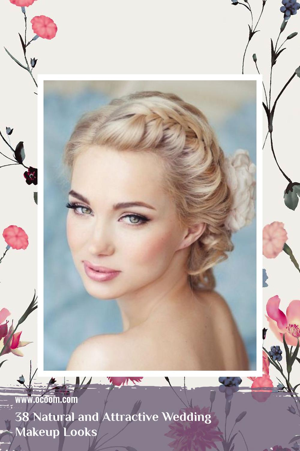 38 Natural and Attractive Wedding Makeup Looks 2