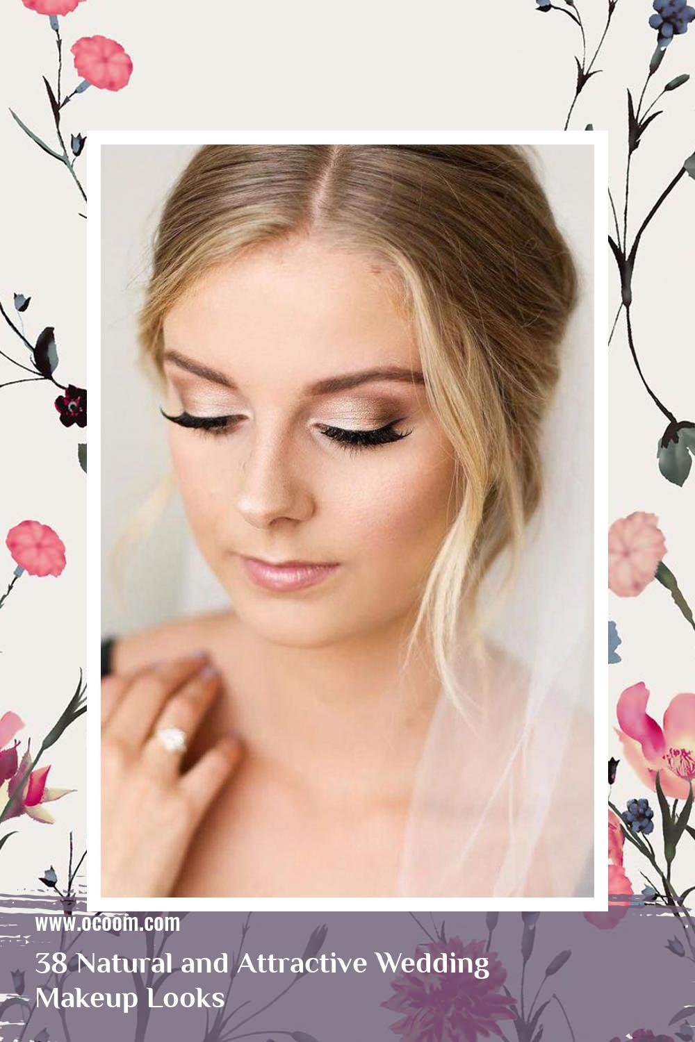 38 Natural and Attractive Wedding Makeup Looks 23