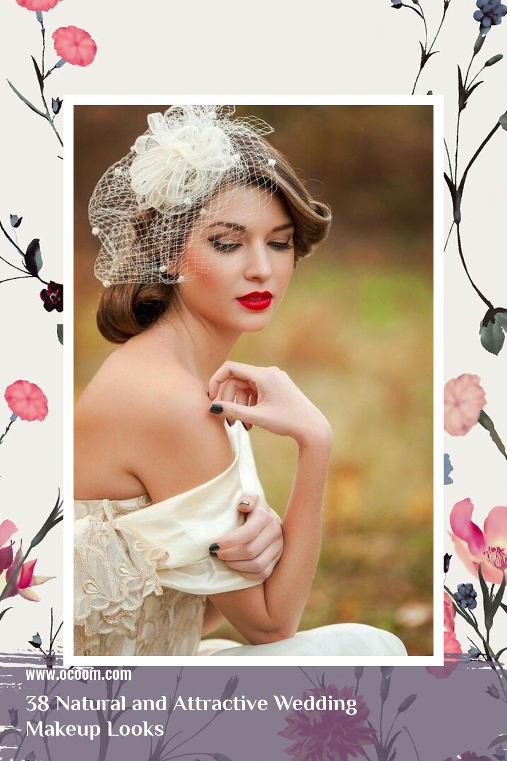 38 Natural and Attractive Wedding Makeup Looks 24