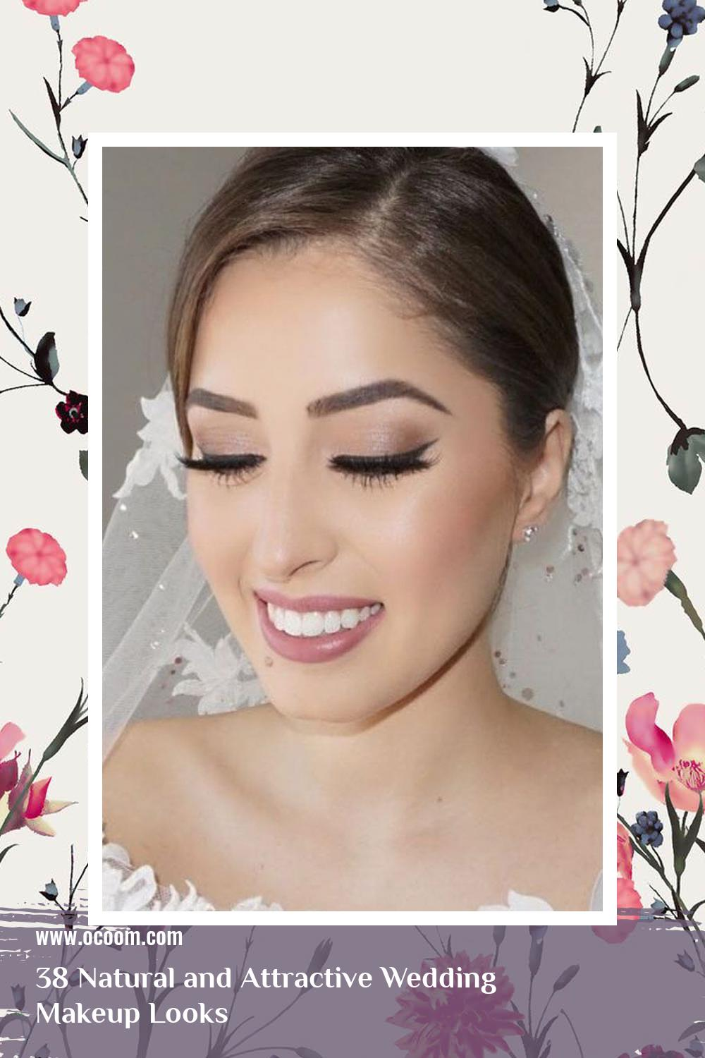 38 Natural and Attractive Wedding Makeup Looks 26