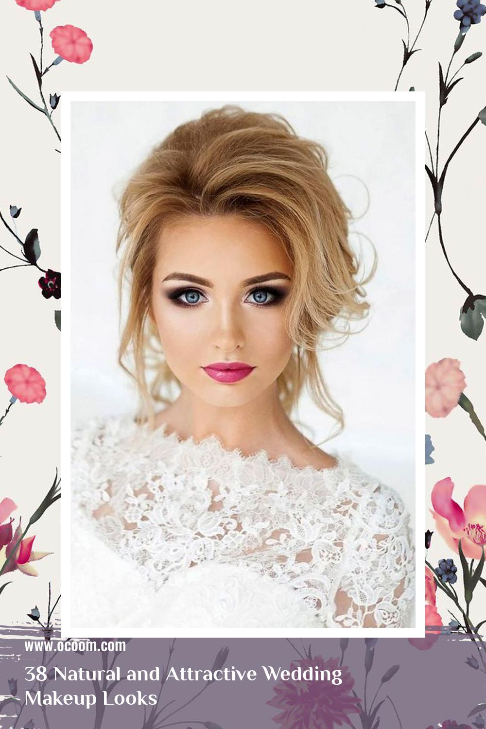 38 Natural and Attractive Wedding Makeup Looks 27
