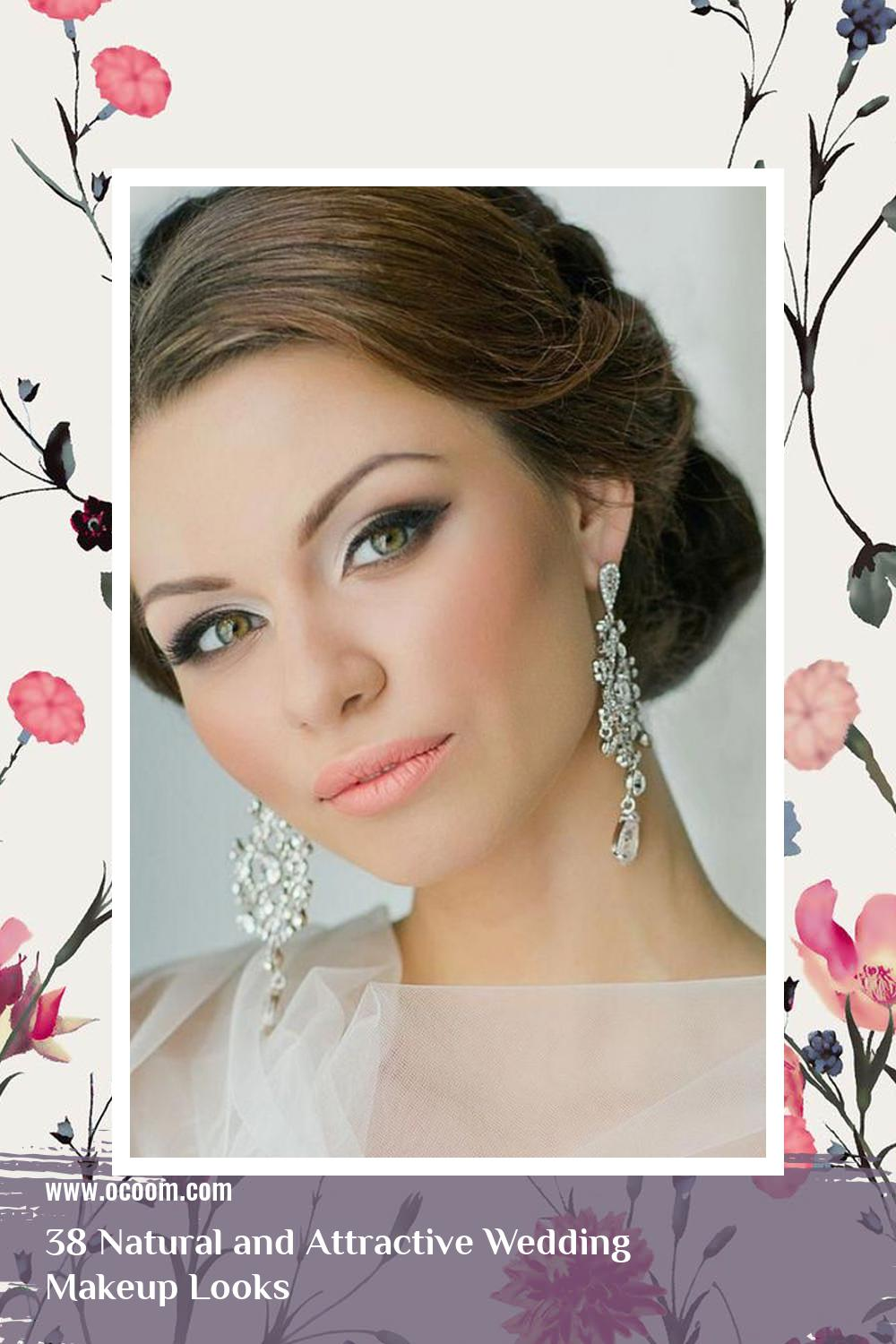 38 Natural and Attractive Wedding Makeup Looks 28