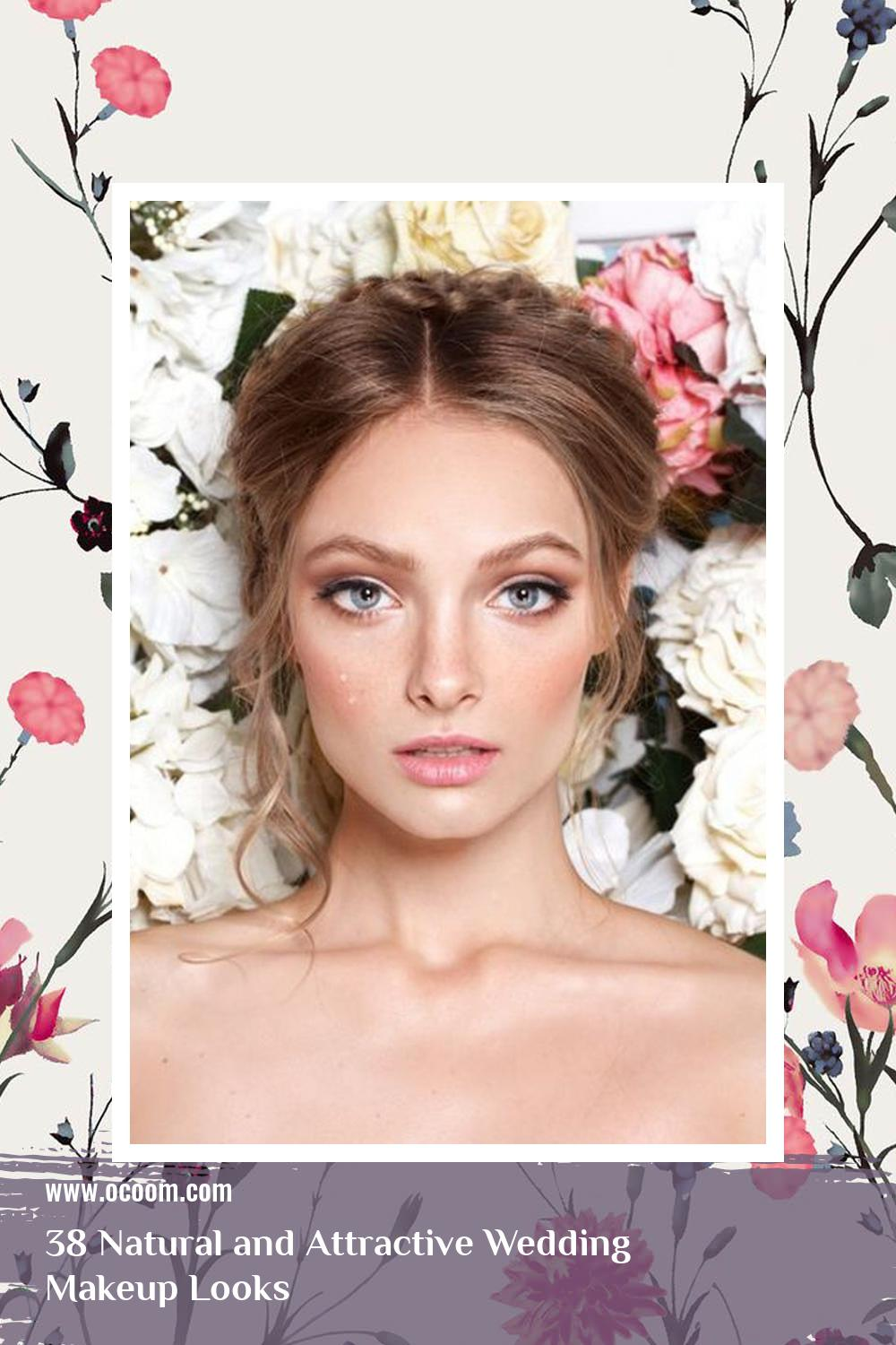 38 Natural and Attractive Wedding Makeup Looks 3