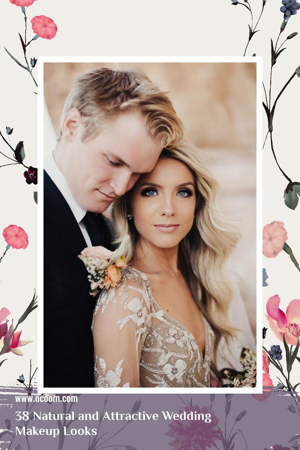 38 Natural and Attractive Wedding Makeup Looks 30