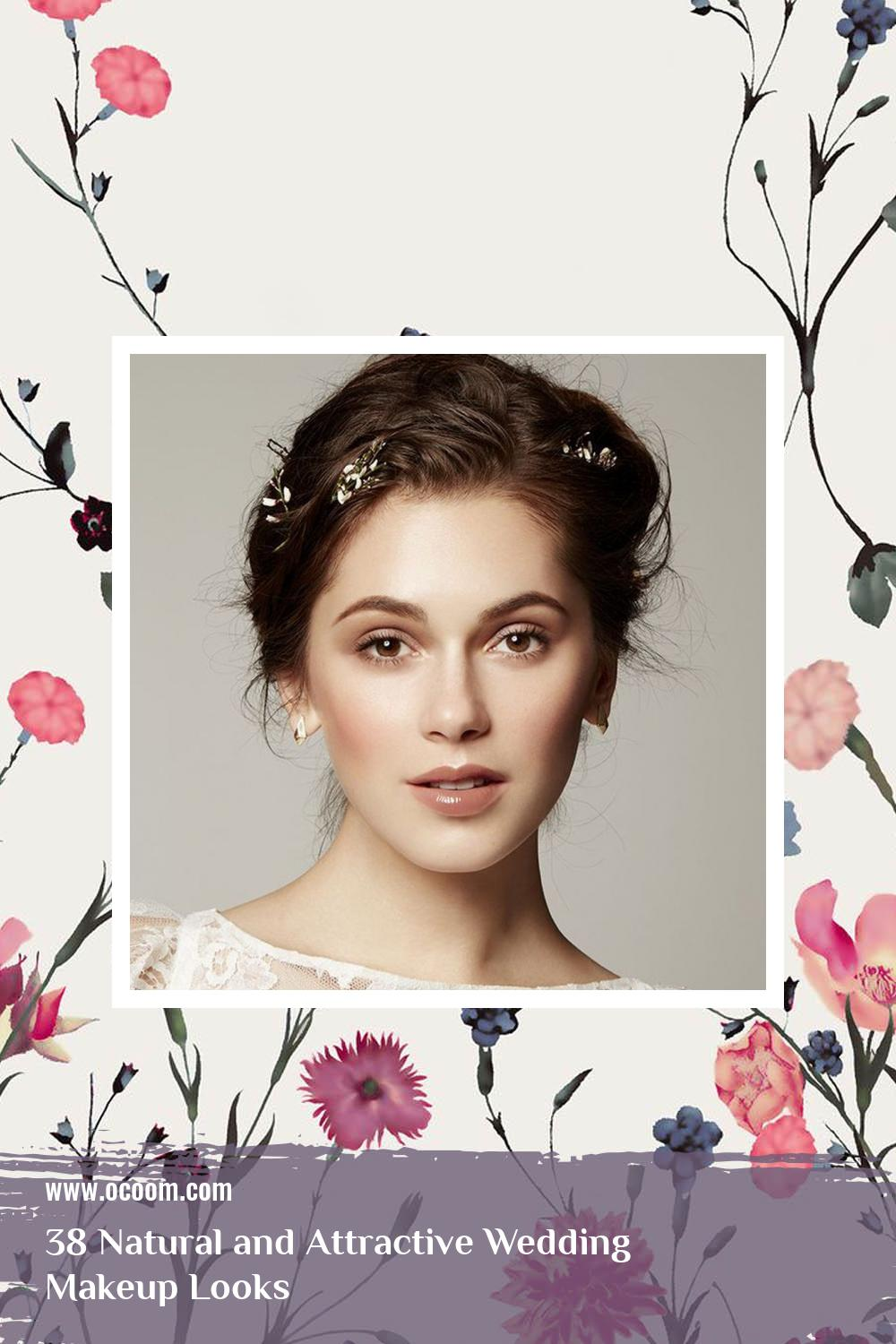 38 Natural and Attractive Wedding Makeup Looks 32