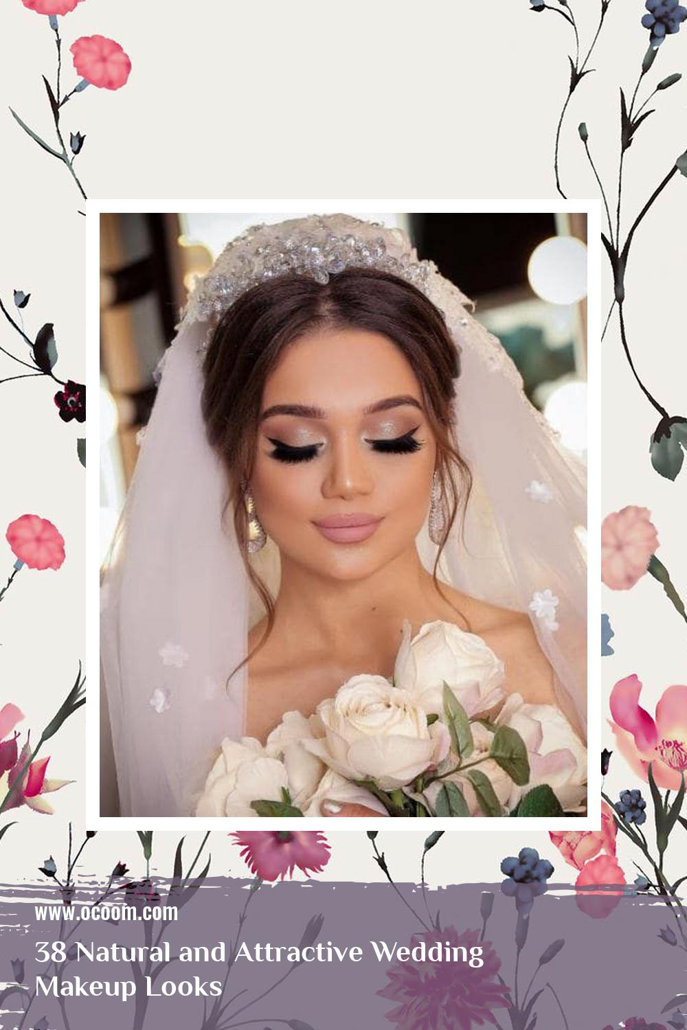 38 Natural and Attractive Wedding Makeup Looks 34