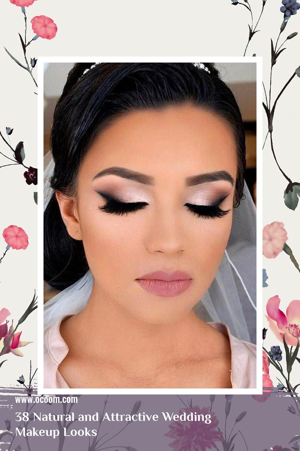 38 Natural and Attractive Wedding Makeup Looks 35