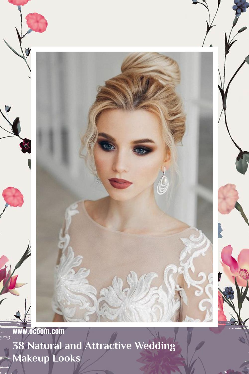 38 Natural and Attractive Wedding Makeup Looks 4