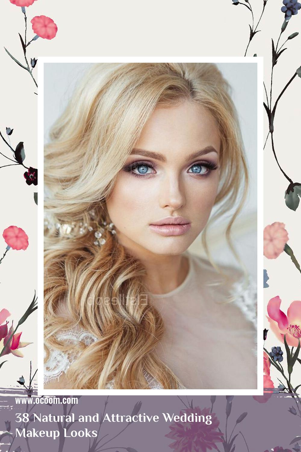 38 Natural and Attractive Wedding Makeup Looks 5