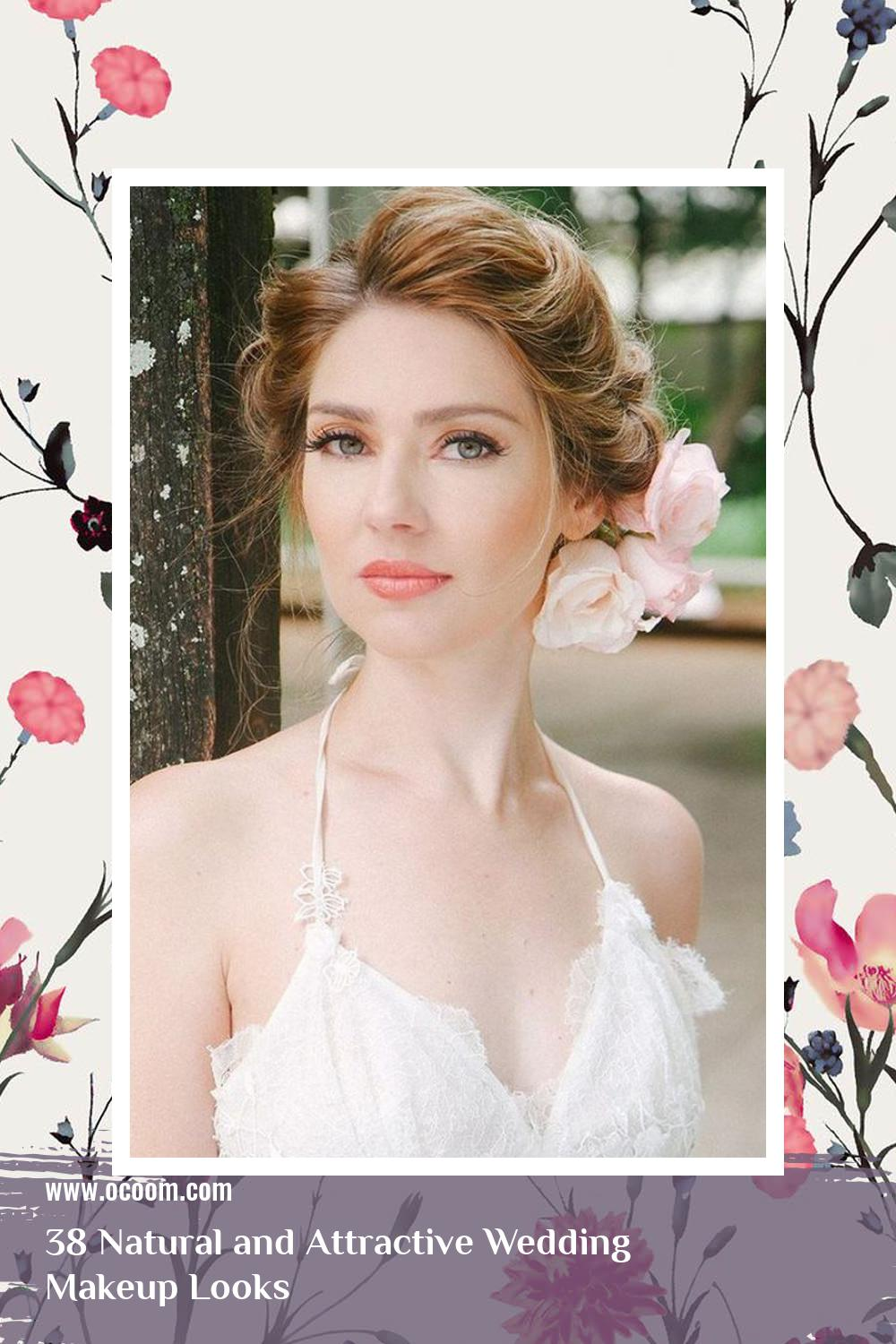 38 Natural and Attractive Wedding Makeup Looks 7