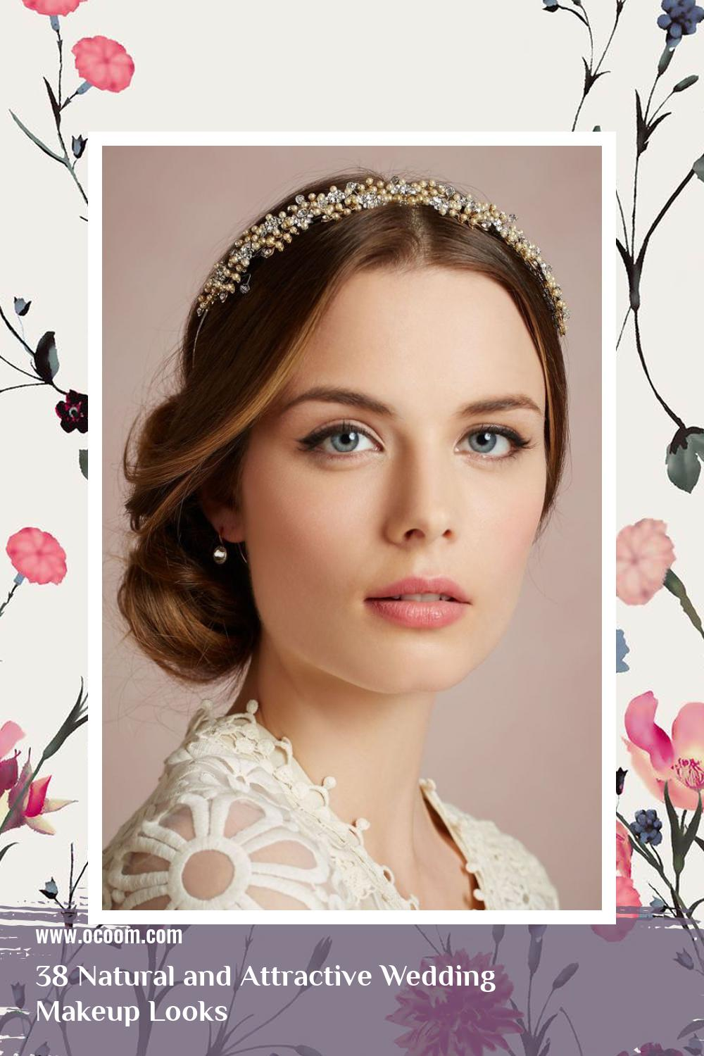 38 Natural and Attractive Wedding Makeup Looks 8