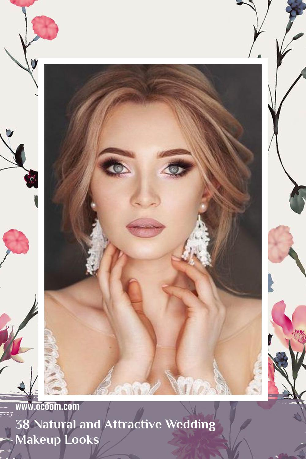 38 Natural and Attractive Wedding Makeup Looks 9