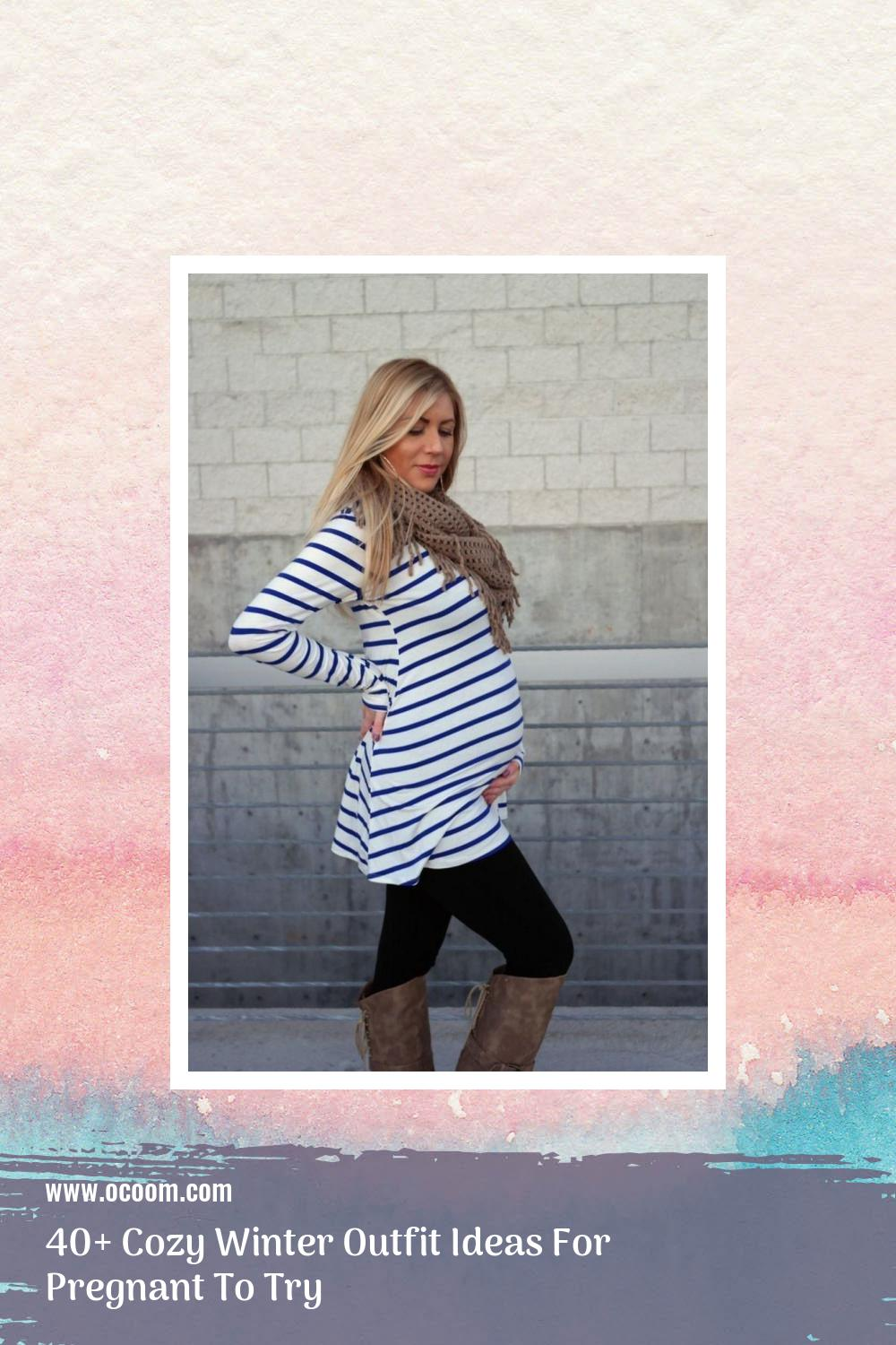 40+ Cozy Winter Outfit Ideas For Pregnant To Try 10